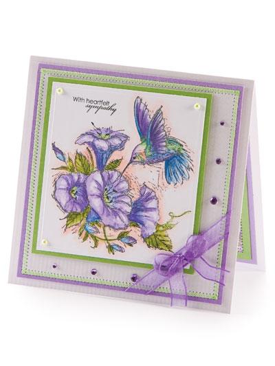 Heartfelt Sympathy Card Design photo