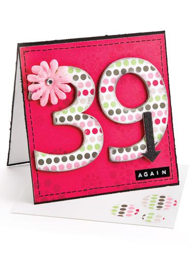39 Again Birthday Card photo