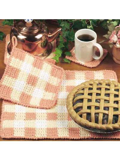 Gingham Table Set photo