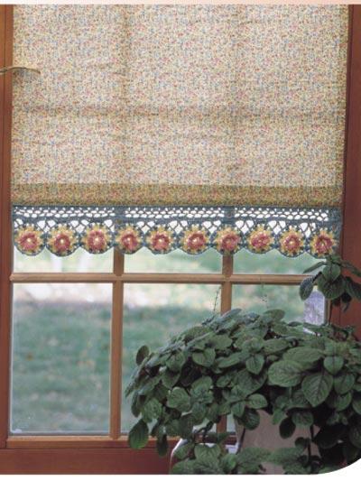 Floral Window Shade Trim photo
