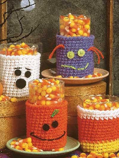 Halloween Glass Cozies photo