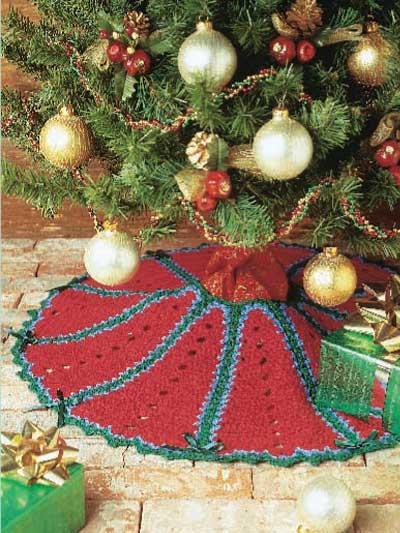 Crimson Tree Skirt photo