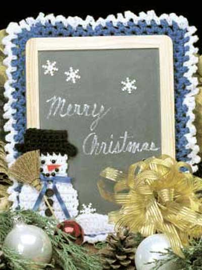 Snowman Chalkboard photo